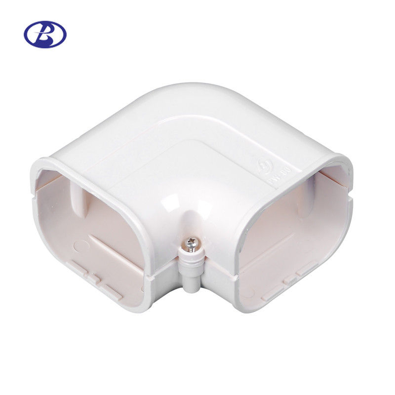 100mm AC Duct Kits Air Conditioner Pipe Cover Fitting PVC Plane Corner 협력 업체